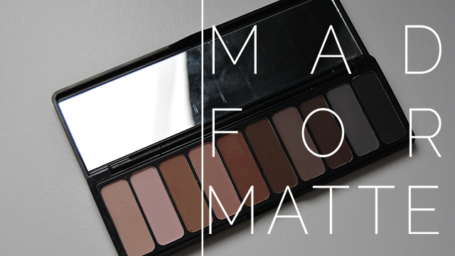 mad for matte eyeshadow palette review
