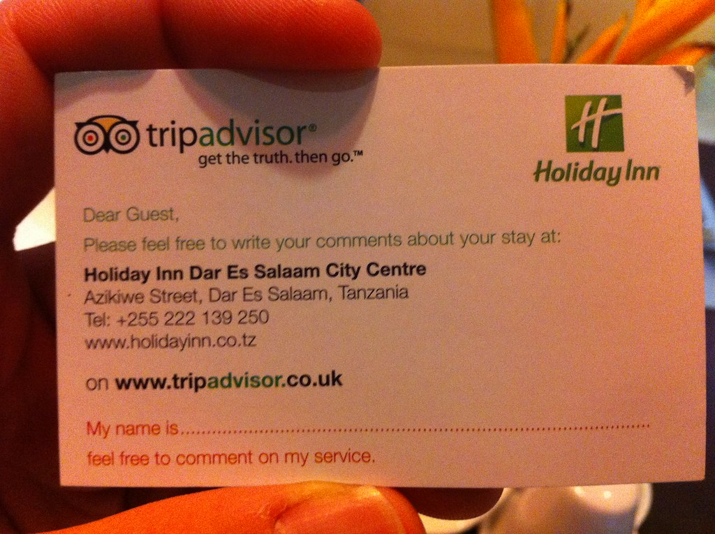 remove my review from tripadvisor