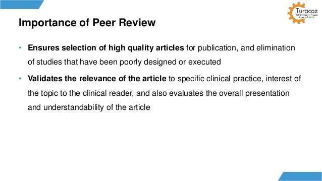 importance of peer reviewed articles